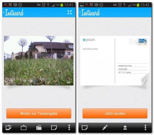 Die App Pixum Instacard ermöglicht es euch, individuelle Postkarten direkt vom Smartphone aus zu verschicken. Die ersten vier Karten sind sogar kostenlos.