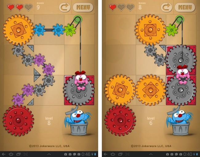 In diesem Puzzle-Spiel musst du zwei verliebte Monster zusammenbringen.