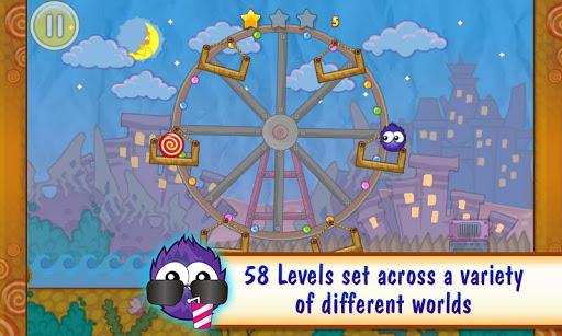 In diesem Physik-Spiel bist du als niedliches Geschöpf auf der Jagd nach Bonbons.