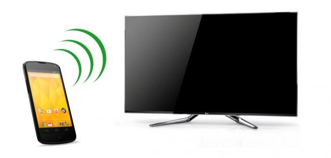 Mit Hilfe der Technologie ist es möglich Inhalte vom Smartphone auf den Fernseher zu übertragen.