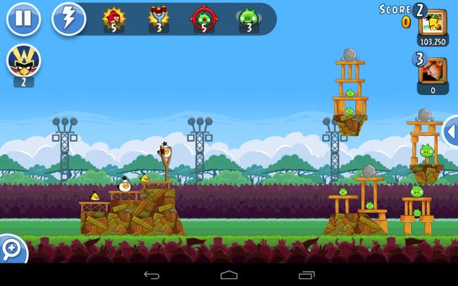 Der Kern von Angry Birds Friends besteht aus Turnieren mit sechs Level.