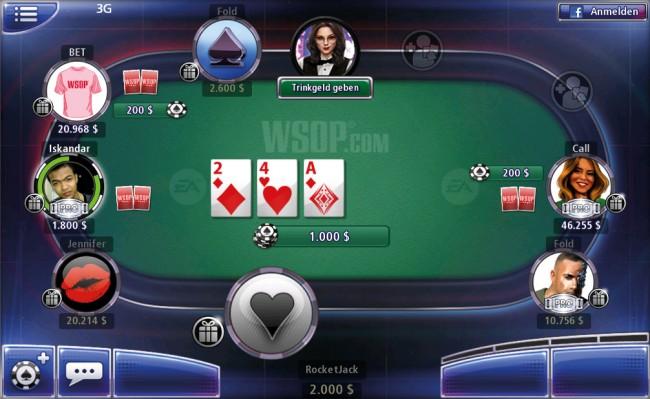 World Series of Poker-Spiele finden immer online statt.