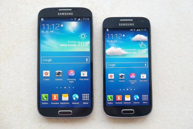 Das Galaxy S4 mini ist um 12 mm kürzer, 8,5 mm schmäler, dafür aber einen MiDas Galaxy S4 mini ist um 12 mm kürzer, 8,5 mm schmäler, dafür aber einen Millimeter dicker als der große Bruder.