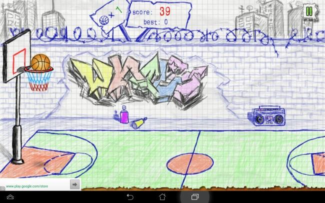 Das Alleinstellungsmerkmal dieser gut umgesetzten App ist die im Stil von Zeichnungen gehaltene Spieloberfläche.