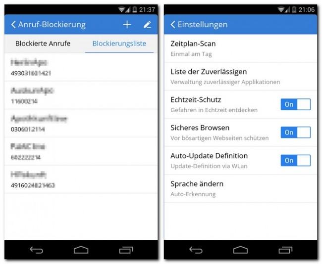 Seiten Blockieren Android