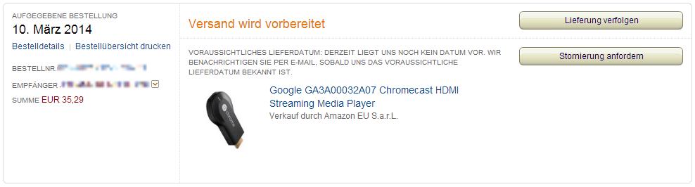 google chromecast ab morgen in deutschland f r 39 99 euro erh ltlich update. Black Bedroom Furniture Sets. Home Design Ideas