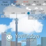 YoWindow: Eine toll animierte Wetter-App, die das Wetter auf deinem Display live widerspiegelt