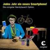 Jedes Jahr ein neues Smartphone: Handytausch Option von congstar