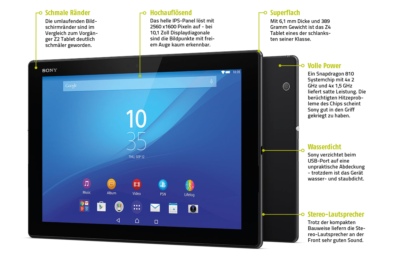 d nn d nner xperia z4 tablet sonys neues ger t im test. Black Bedroom Furniture Sets. Home Design Ideas