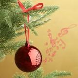 Singende Christbaumkugeln mit eingebautem Bluetooth-Lautsprecher für rund 17 Euro