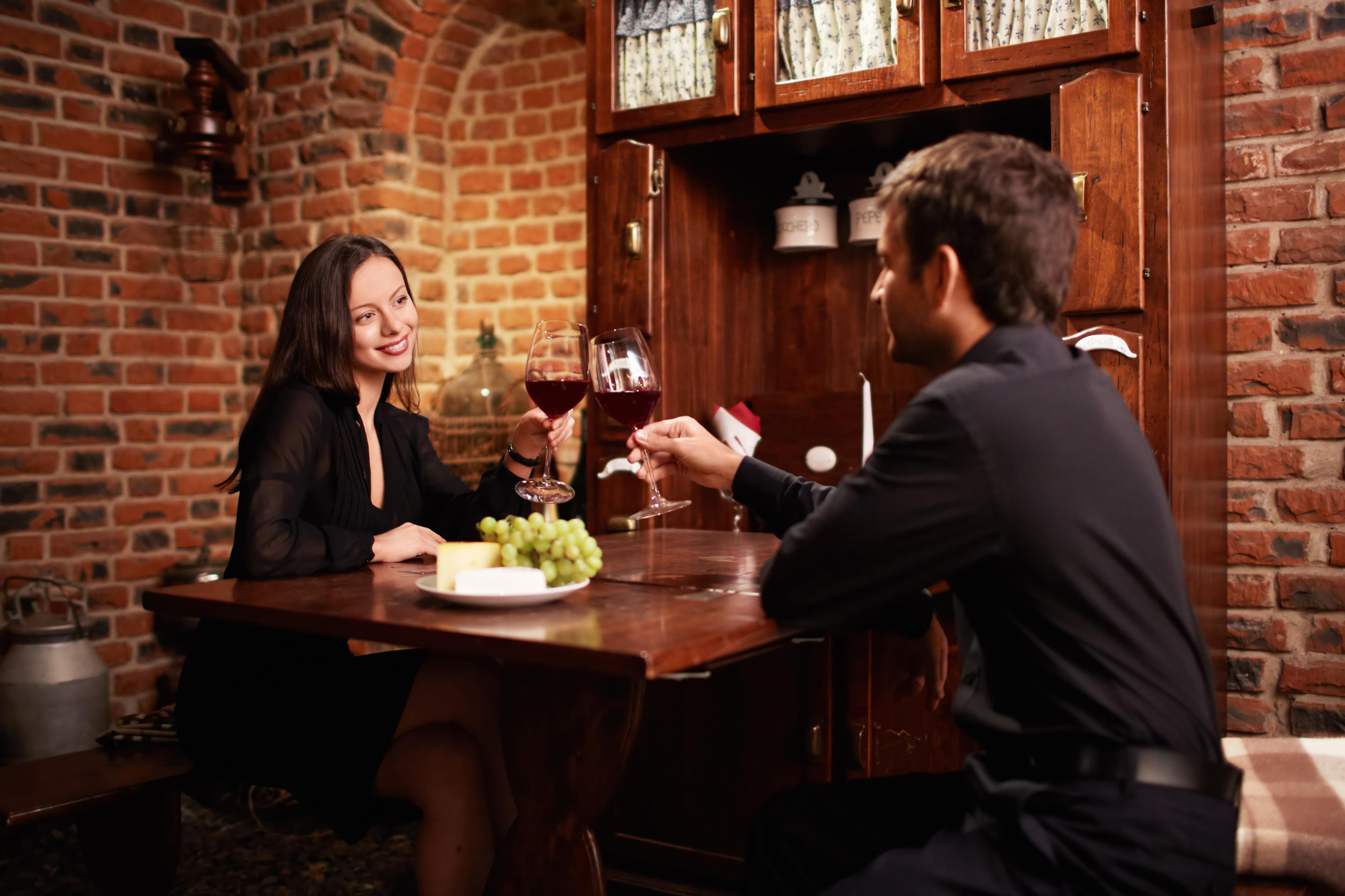 Flirten im restaurant