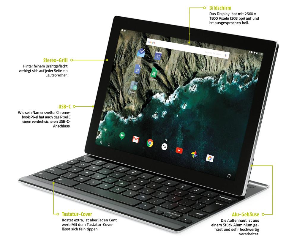 Google Pixel C: Googles erstes eigener Laptop-Tablet ...