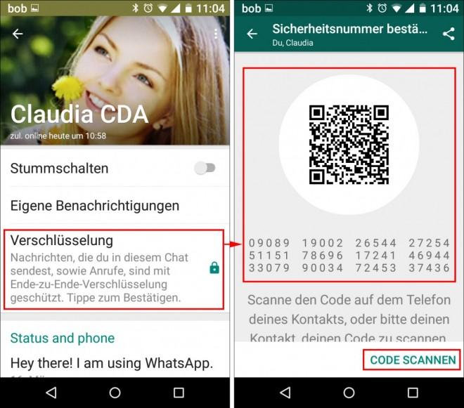 sicherheitsnummer whatsapp