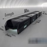 Video: Nie wieder Stau für Riesenbus – er fährt einfach über die Autos hinweg