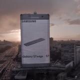 Unglaublich: Ein Galaxy S7 Edge – so groß wie ein Hochhaus!