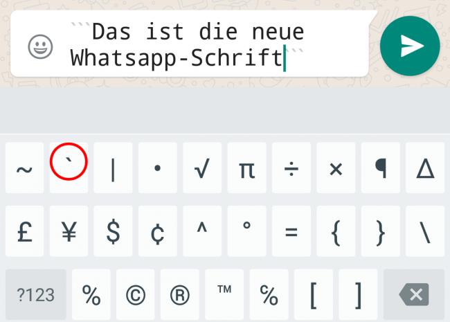 Neue Whatsapp-Schrift