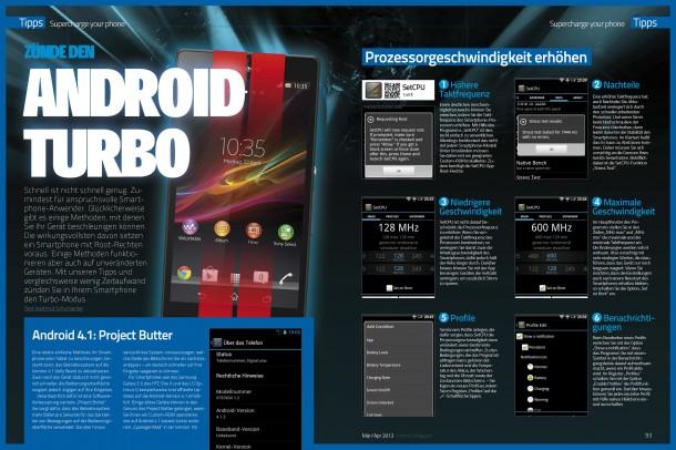 Zünde den Android Turbo