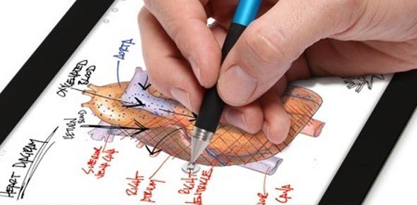 Pixelgenause Schreiben und Zeichnen mit dem Adonit Eingabestift.