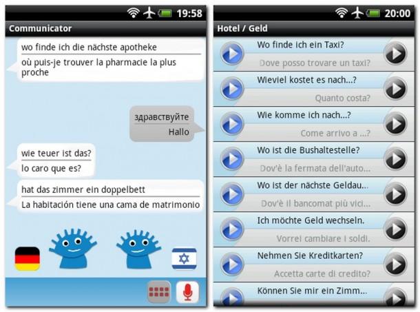 Der iSayHello Communicator Pro übersetzt brav alle Sätze, die ihr oder euer Gesprächspartner in das Mikrofon eures Smartphones sprecht. Die App unterstützt dabei etwa 30 Sprachen.