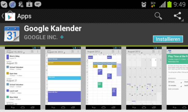 google ver ffentlicht standard kalender app im play store android magazin. Black Bedroom Furniture Sets. Home Design Ideas