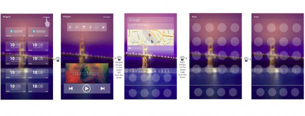Die Designstudie von BeeAndroid sieht eine klare Abtrennung zwischen Apps und Widgets vor. (Foto: BeeAndroid)
