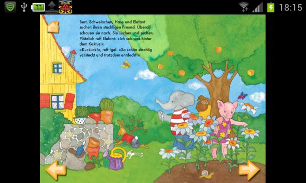 """Die App """"Kuckuck, da bin ich!"""" erzählt eine spannende Geschichte für Kinder."""