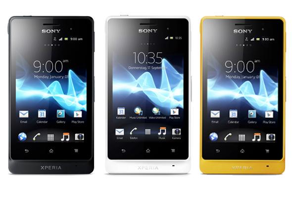 Das Outdoor Smartphone Sony Xperia Go wird in den Farben schwarz ...