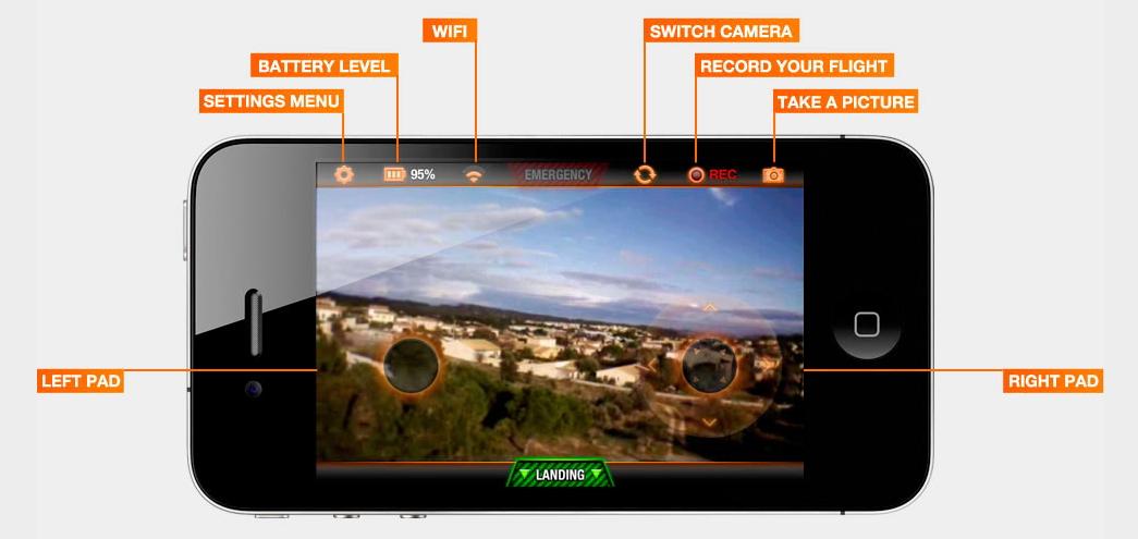 ces 2012 quadcopter mit smartphone steuerung und hd video aufzeichnung mit video. Black Bedroom Furniture Sets. Home Design Ideas