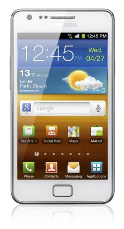 Das Samsung Galaxy SII ganz in Weiß