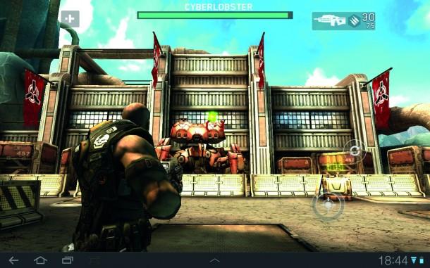 Shadowgun bringt dank toller Grafi k und durchdachtem Gameplay Konsolenatmosphäre auf Smartphones und Tablets – ein Tegra 2-Chipsatz ist aber Voraussetzung.