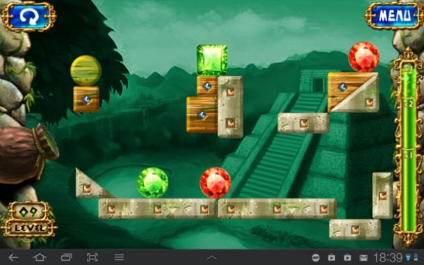 Ziel des Spiels ist es Juwelen der gleichen Farbe zusammen zu bringen.