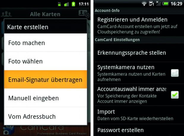 Visitenkarten Einscannen Androidmag