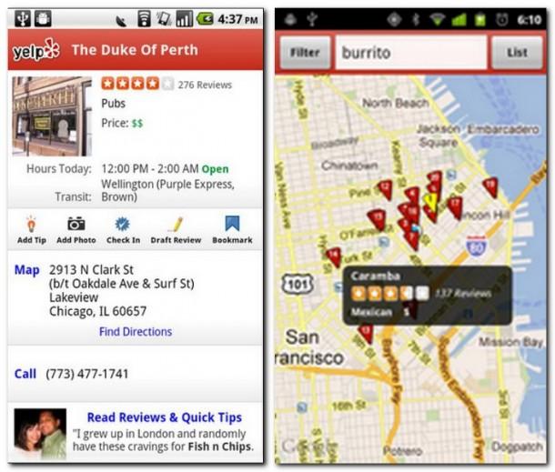yelp restaurants in der n he finden androidmag. Black Bedroom Furniture Sets. Home Design Ideas