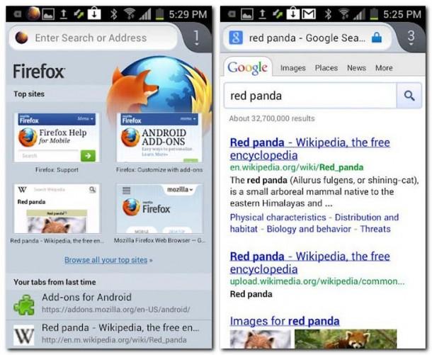 Die mobile Version des Firefox Browsers soll künftig auf mehr Geräten laufen. Foto: Mozilla.